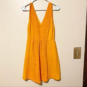 Anthropologie Maeve Orange Fit & Flare Dress